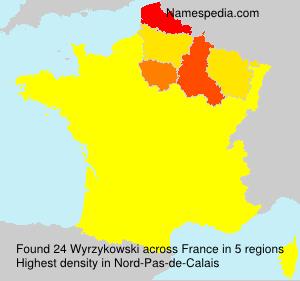 Familiennamen Wyrzykowski - France