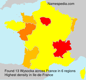 Surname Wysocka in France
