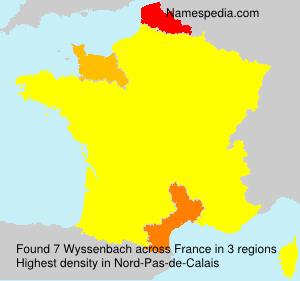 Surname Wyssenbach in France