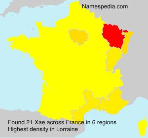 Surname Xae in France