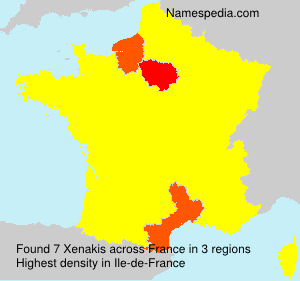 Surname Xenakis in France