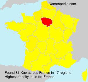 Familiennamen Xue - France