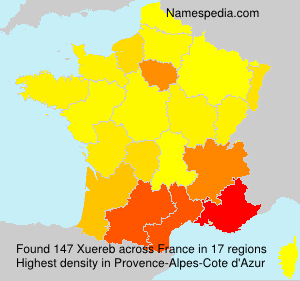 Surname Xuereb in France