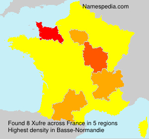 Surname Xufre in France