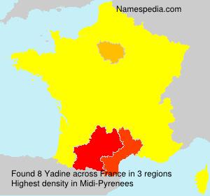 Familiennamen Yadine - France