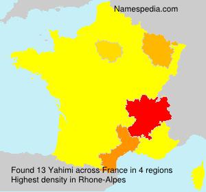Familiennamen Yahimi - France