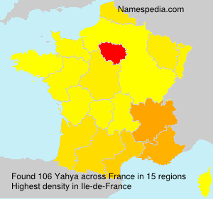 Surname Yahya in France