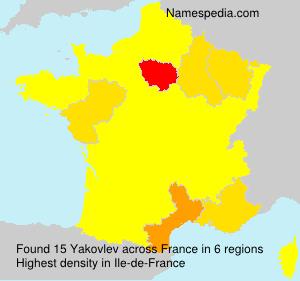 Familiennamen Yakovlev - France