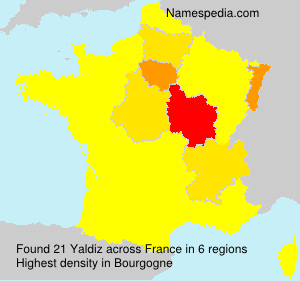 Surname Yaldiz in France