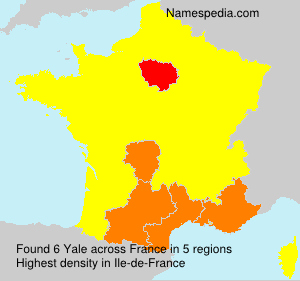 Surname Yale in France