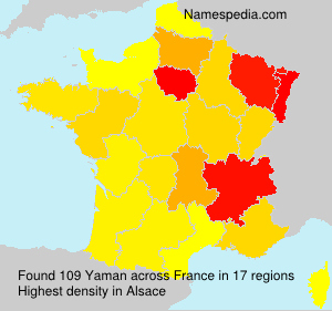 Surname Yaman in France