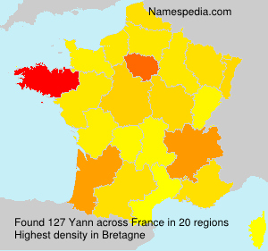 Surname Yann in France