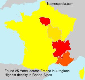Surname Yanni in France