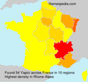 Surname Yapici in France