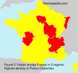Surname Yaslan in France