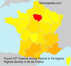Surname Yassine in France