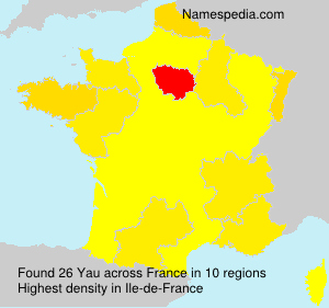 Surname Yau in France