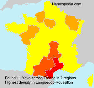 Surname Yavo in France