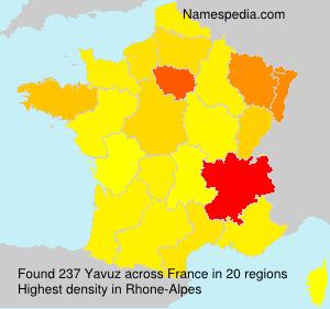 Surname Yavuz in France