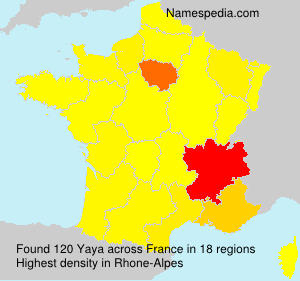 Familiennamen Yaya - France