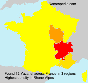 Surname Yazanel in France