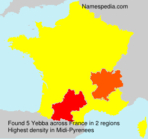 Familiennamen Yebba - France