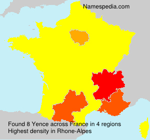 Surname Yence in France