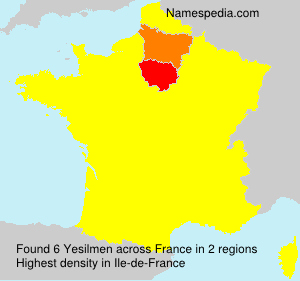 Surname Yesilmen in France