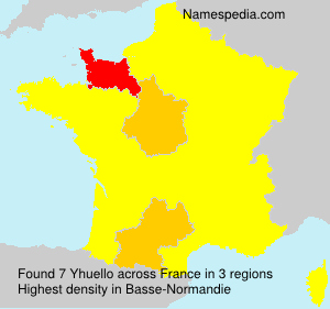 Surname Yhuello in France