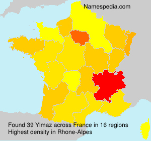 Familiennamen Ylmaz - France