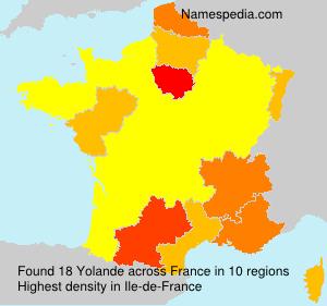 Surname Yolande in France