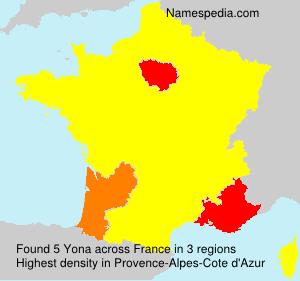 Surname Yona in France