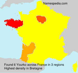 Surname Yourko in France