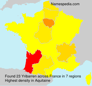 Surname Yribarren in France