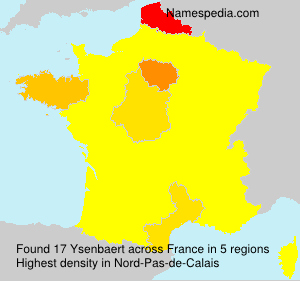Surname Ysenbaert in France