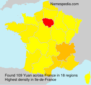Surname Yuan in France
