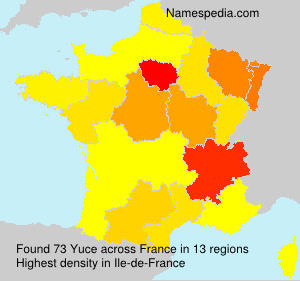 Surname Yuce in France