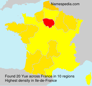 Surname Yue in France