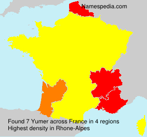 Surname Yumer in France