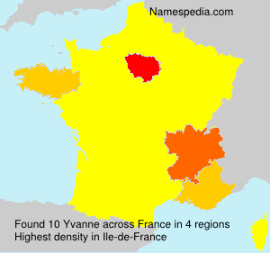 Surname Yvanne in France