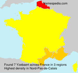 Surname Yzebaert in France