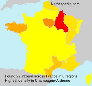 Familiennamen Yzoard - France