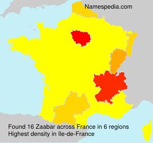 Surname Zaabar in France