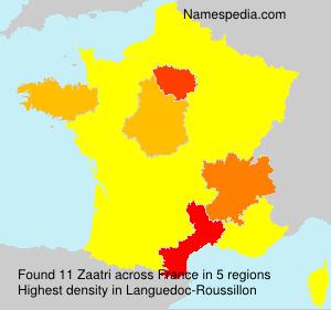 Surname Zaatri in France