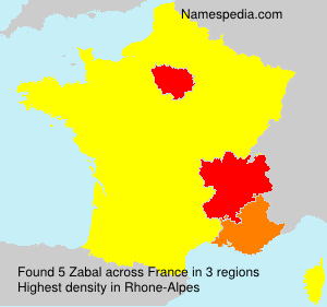 Surname Zabal in France
