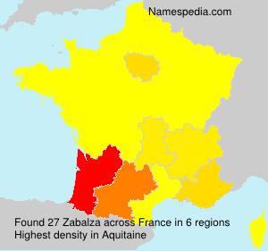 Surname Zabalza in France