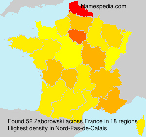 Surname Zaborowski in France