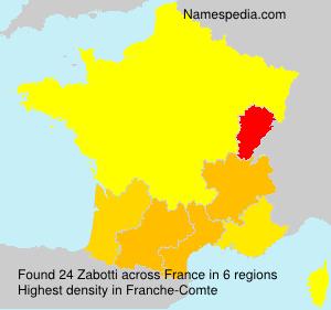 Surname Zabotti in France