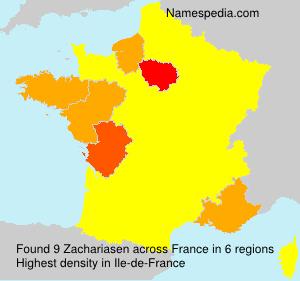 Surname Zachariasen in France