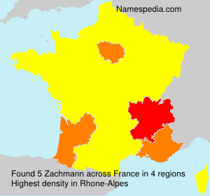 Surname Zachmann in France